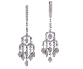 18K White Gold 1.77 Ct.tw Diamond Chandelier Earrings