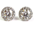 Diamond Earrings .83 Ct. centers .30 .Ct 1.13 Ct.tw 18K White Gold