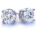 2.20 Carats Diamond Stud Earrings G-H Color I1 Clarity