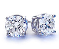 1.91 Carats Diamond Stud Earrings