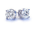1.02 Carats GIA Certified Diamond Earrings