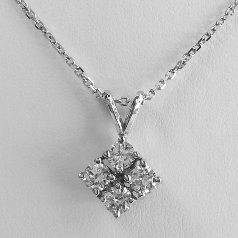 3f73096c0c76e 4 Diamonds Necklace 1.02 Ct.tw