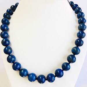 Genuine Natural Blue Lapis Necklace 18 inches