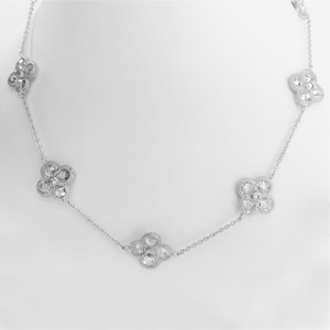 Vermeil Necklace, White Gold on Sterling 16 to 36 inches