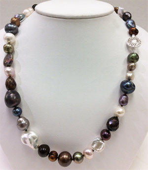 Multi Color Fresh Water Pearl Necklace18 Inches
