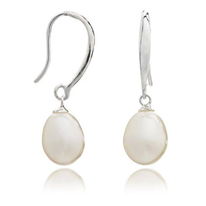 Pearl Earrings Sterling Silver