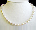 Pearl Necklace with 6.5 - 7 mm Japanese Akoya Pearls