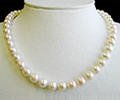 Pearl Necklace With 7.5 mm Japanese Akoya Pearls