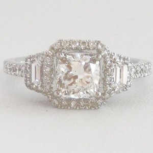 Diamond Engagement Ring 1.08 Carats Certified EGL F VS2 1.78 Ct. tw