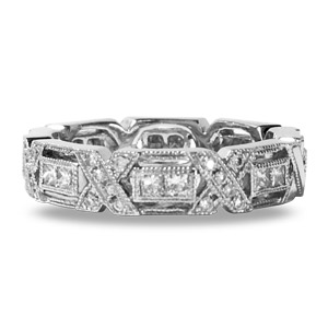 Diamond Band18 Karat White Gold