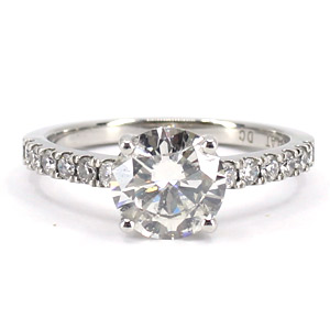 Diamond Platinum Engagement Ring 1.51 Ct. tw GIA Certified I SI 1