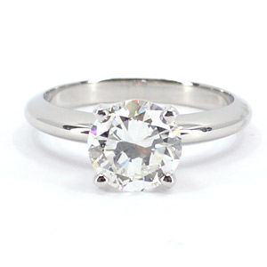 Diamond Ring 1.62 Carat H VS2