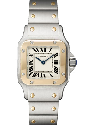 Cartier Ladies Santos Galbee W20012C4 18K Gold Steel