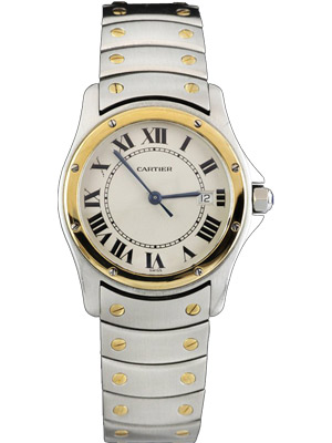 Cartier Santos Round Automatic with Silver Dial and Roman Numerals