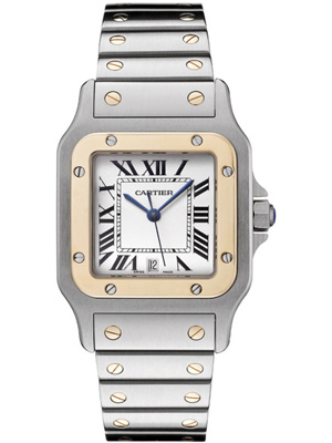 Cartier Santos Galbee in 18K Yellow Gold & Steel