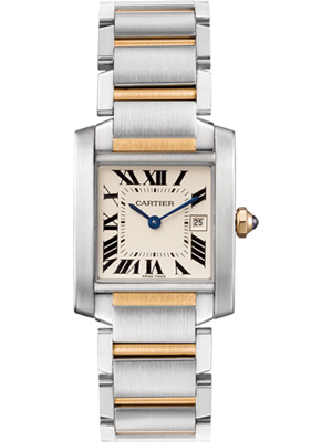 Cartier Mid Size Tank Francaise in Steel and Gold