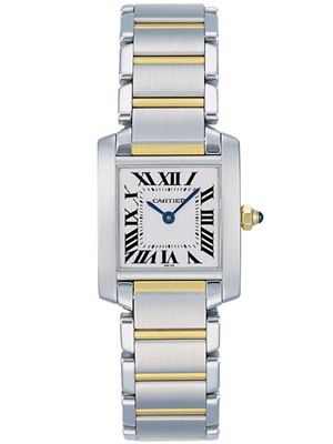 Cartier Ladies Tank Francaise  W51007Q4 Steel and Gold