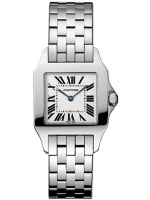 Cartier Ladies Santos Demoiselle W25065z5 White Dial 26 Mm