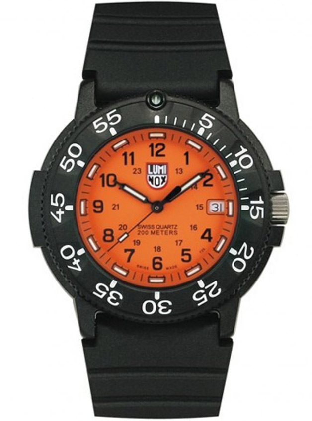 Omega Authorized Dealer >> Luminox Watches for Men: Luminox Navy Seal 3009 With Orange Dial