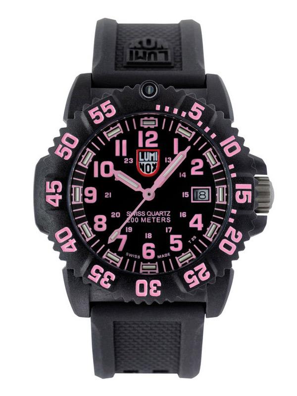 luminox navy seal dive colormark 7065 pink