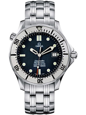 Omega Seamaster James Bond Automatic Striped Blue Wave Dial