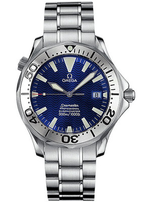Omega Seamaster 300M Chronometer with Helium Escape Valve and Blue Dial