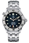 Omega Seamaster James Bond Automatic Striped Dark Blue Wave Dial