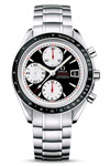 Omega Speedmaster Men's Automatic Watch with Black Dial and White Subdials