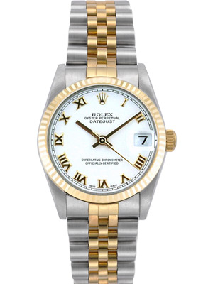 Rolex Ladies Watch Datejust White Roman Dial 78273
