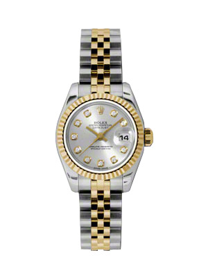 rolex lady datejust model 79173 genuine ladies rolex datejust 18k gold