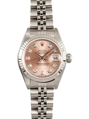 Ladies Rolex 26 mm Pink Diamond Dial