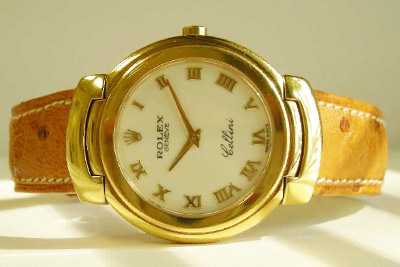 Rolex Cellini Ladies 18k Yellow Gold Watch 6631/8 - DeMesy Fine