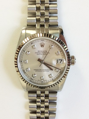 Rolex Lady Datejust with Silver Diamond Dial 68274