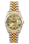 Rolex Ladies Datejust Junior with 18K Gold Steel Band and Roman Numerals