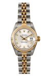 Rolex Watch Lady Date-just 69173 Silver Dial Diamonds