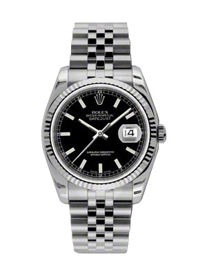 Preowned New Style Rolex Datejust 116234 Black Dial
