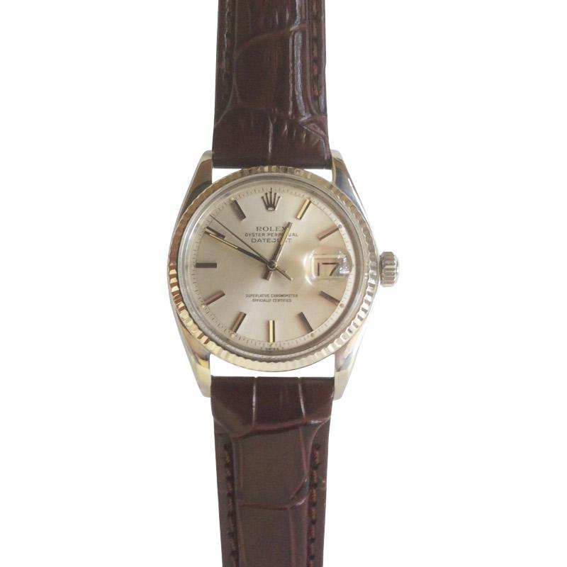 Vintage 1977 Rolex Datejust Leather Strap