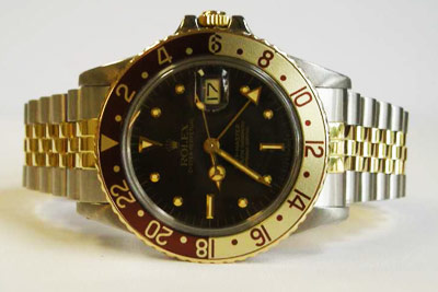 Vintage Rolex Sports Watches Gmt Master In Steel And Gold