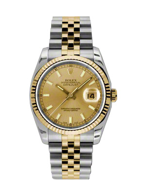 Rolex Oyster Perpetual Datejust 116233 Champagne Dial  <span style='font-size:.6em; color:#c40d2e;'>Brand New in Box</span>