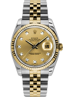 Rolex Oyster Perpetual Datejust with Champagne Diamond Dial