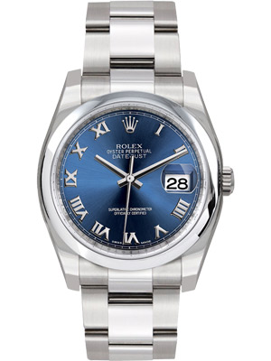 Rolex Datejust 116200 Men's Watch Blue Roman Dial 2015 Model