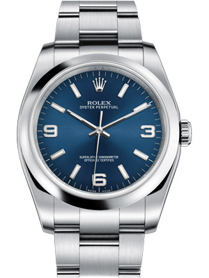 Rolex Oyster Perpetual Datejust 116000 Blue Dial 36 mm