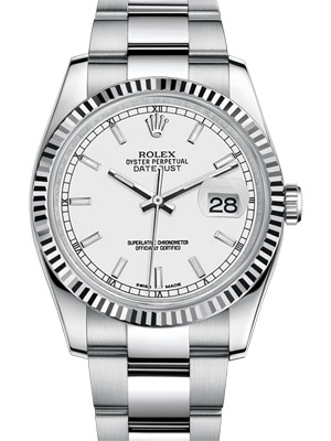 Rolex Oyster Perpetual Datejust with Silver Sticks Dial