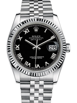 Rolex Oyster Perpetual Datejust 116234 36 mm with Black Dial