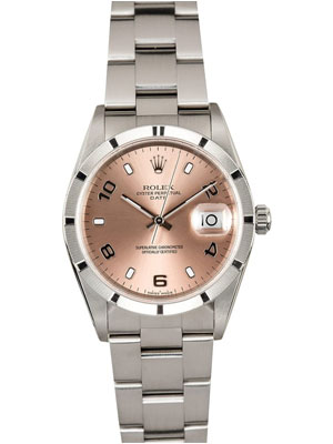 Rolex Salmon Dial 34 mm Stainless Steel Date