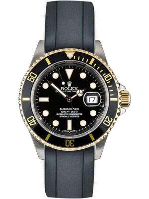 Rolex Submariner 16613 Two Tone Black Dial