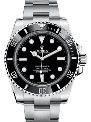 Rolex Submariner Ceramic 114060 Black Dial No Date