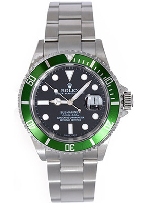 Rolex Submariner 50th Anniversary Green Insert Engraved Bezel