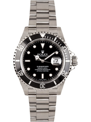 Rolex Submariner Black Dial Black Bezel Oyster Band