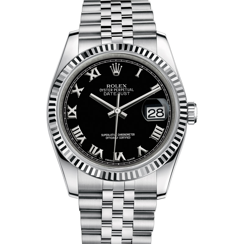 eb2864817eac1 Rolex Oyster Perpetual Datejust 116234 36 mm with Black Dial
